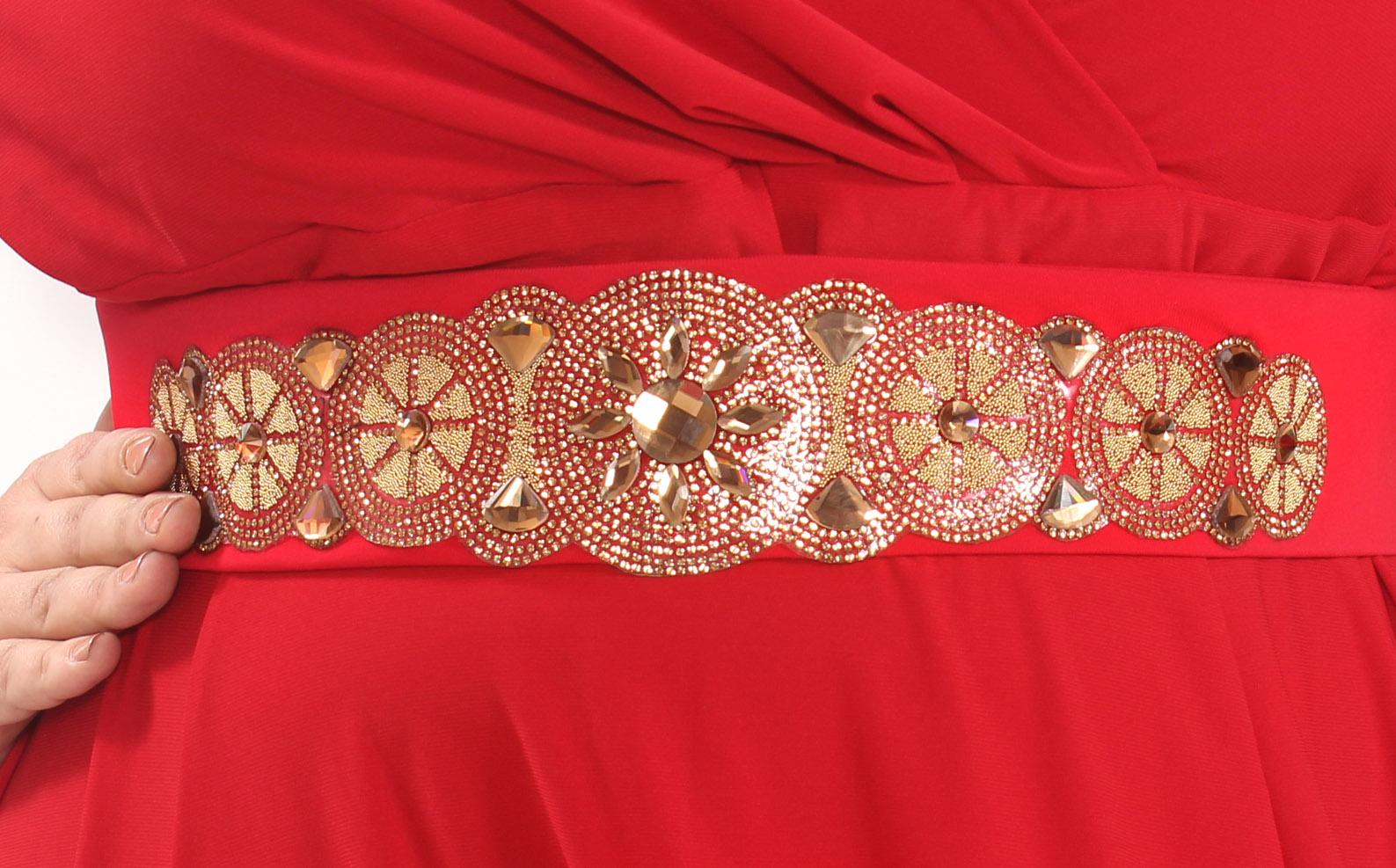 2249a4ad525 ... Вечернее платье Клеопатра Magesty. Шикарное платье сочного красного  цвета. Фасон платья в стиле Ампир с завышенной линией талии и расклешённой  от груди ...